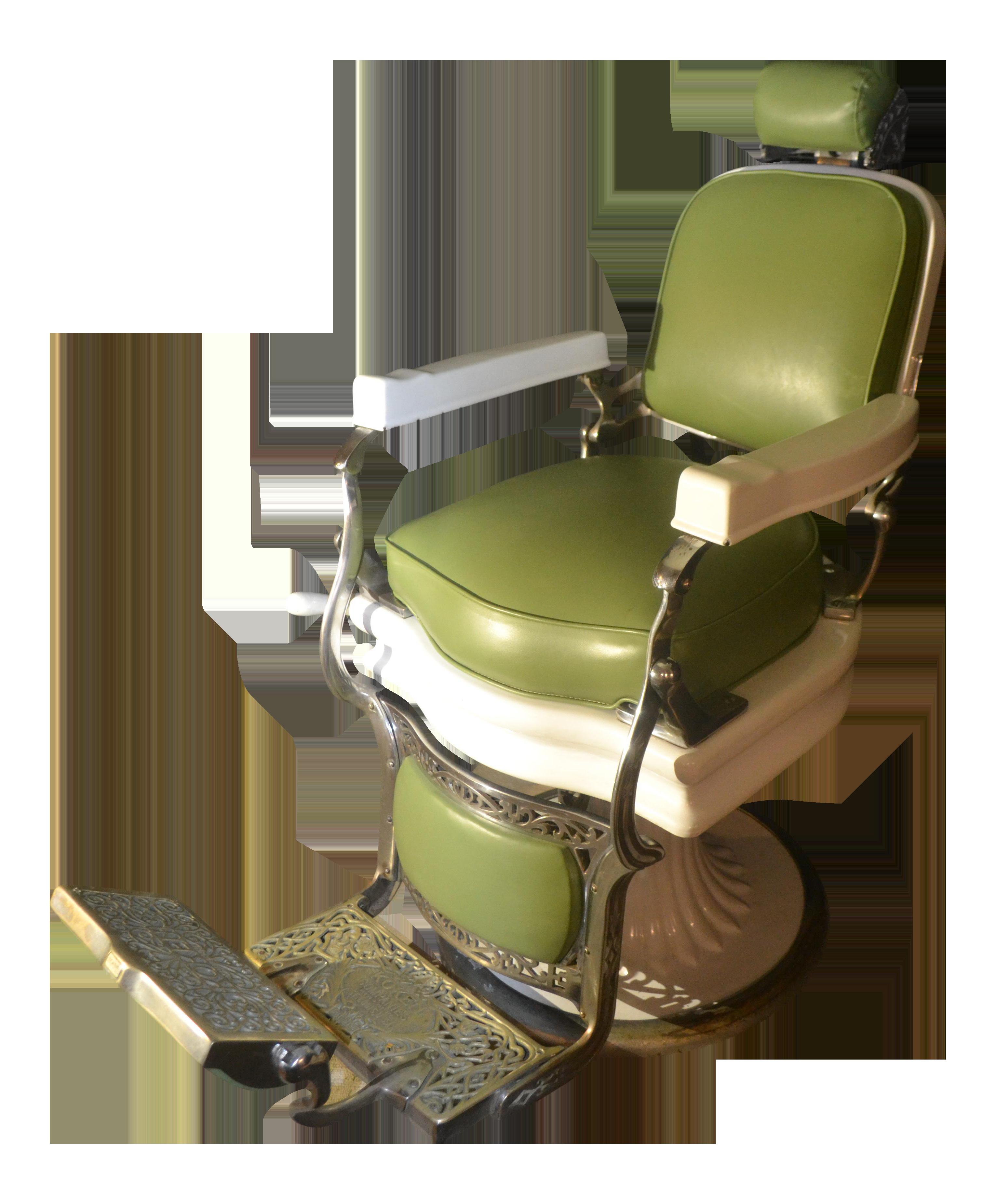 Vintage Grand Central Terminal Koken Barber Chair  sc 1 st  Chairish & 1940s Blue Koken Barber Chair | Chairish