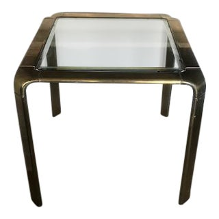 John Widdicomb Brass & Glass Waterfall Style Dining Table