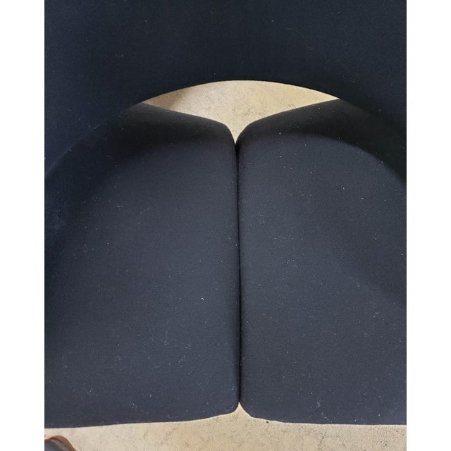Metal 2 Vintage Black Ribbon Chairs by Pierre Paulin for Artifort W/Ottoman For Sale - Image 7 of 10