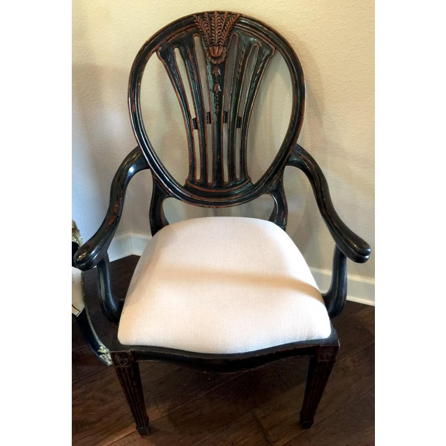 Jonathan Charles Hepplewhite Wheatsheaf Arm Chair - Image 2 of 5