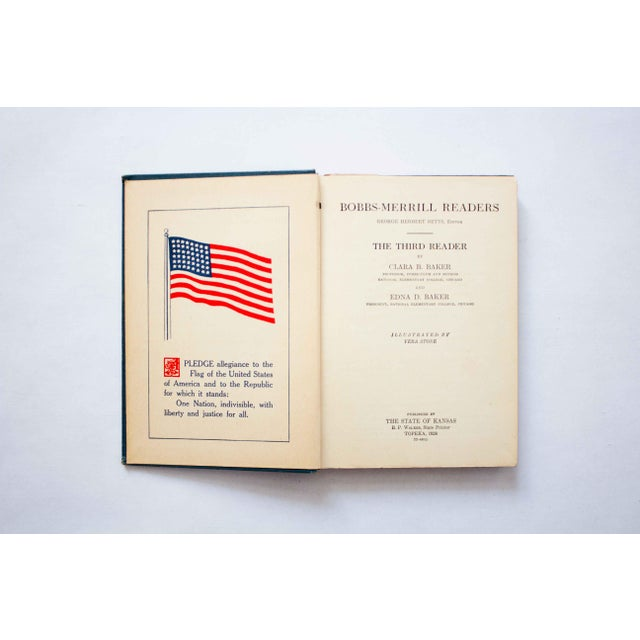 American 1920s Kansas School Book in Blue For Sale - Image 3 of 9