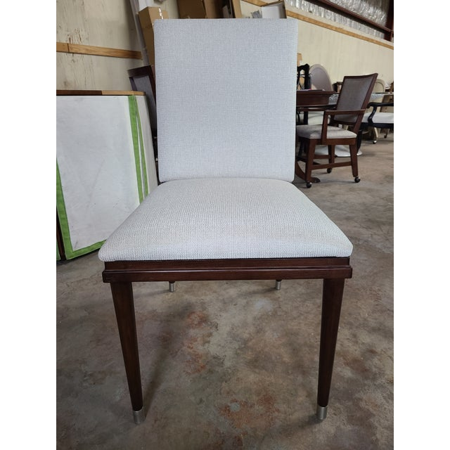 Metal Henredon Furniture David Kleinberg Talice Upholstered Dining Chair For Sale - Image 7 of 7