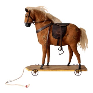 Antique Horse Pull Toy For Sale