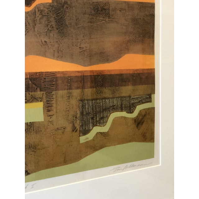Green Eric Bellman Mixed Media Abstract of Southwest For Sale - Image 8 of 11