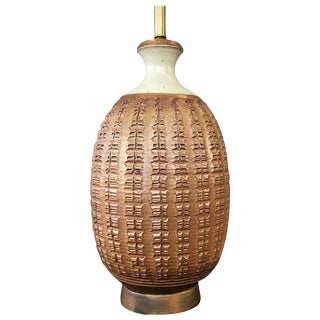 Bob Kinzie for Affiliated Craftsmen Z Series Stoneware Table Lamp, 1960s For Sale