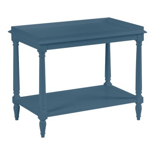 Casa Cosima Revere Side Table, Van Deusen Blue For Sale