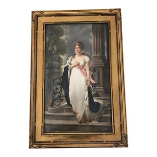 19th C. Antique German Kpm Porcelain Portrait Plaque For Sale