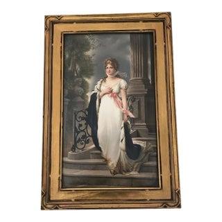 19th C. Antique German Kpm Porcelain Portrait Plaque For Sale