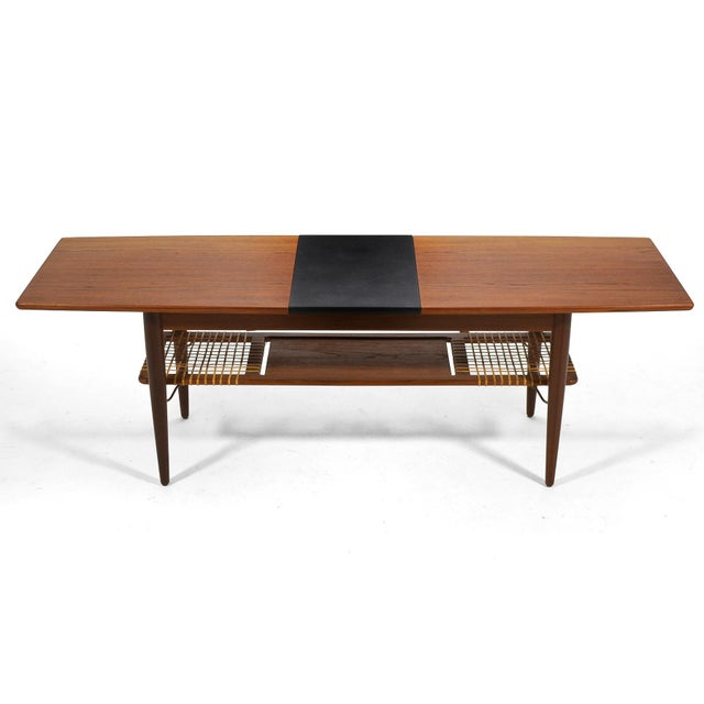 Danish Teak Extension Coffee Table For Sale In Chicago - Image 6 of 13