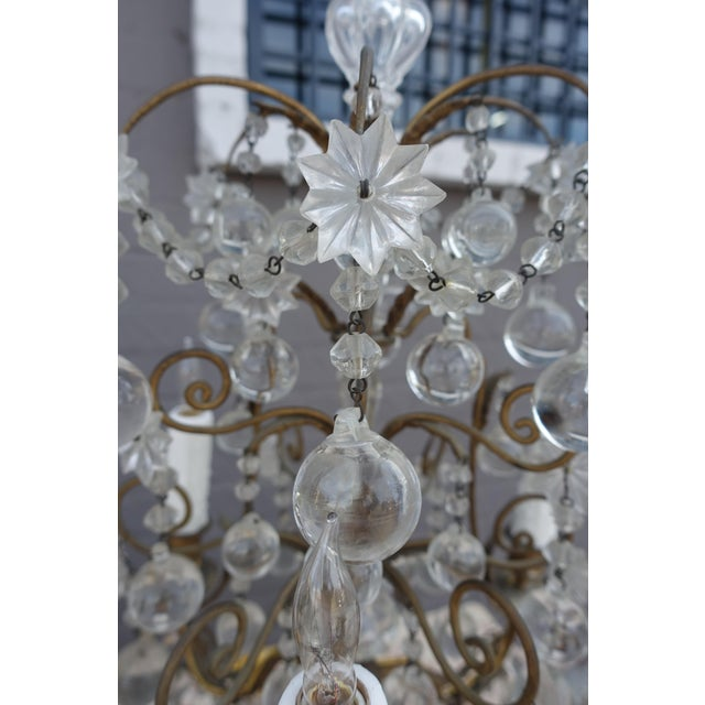 French Crystal & Bronze Lights - Pair - Image 5 of 9