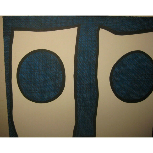 Paper 1967 Abstract Silkscreen by Michael Knigin For Sale - Image 7 of 12