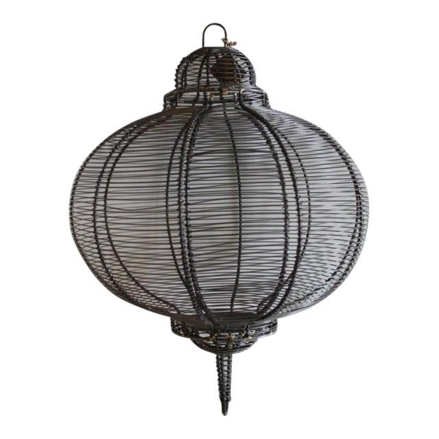West Elm Circular Hanging Lantern - Image 1 of 8