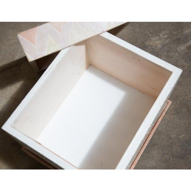 Pastel Geometric Wooden Storage Box - Image 5 of 6