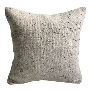 Turkish Organic Traditional Handwoven Natural Kilim Pillow For Sale