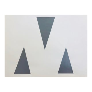 "Original Acrylic Painting ""Gray Triangles"""