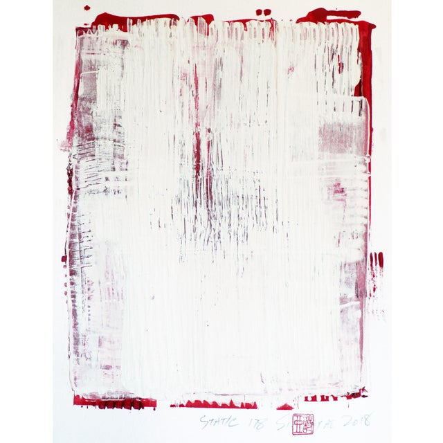 "2010s ""Static 178"" Abstract Painting For Sale - Image 5 of 5"