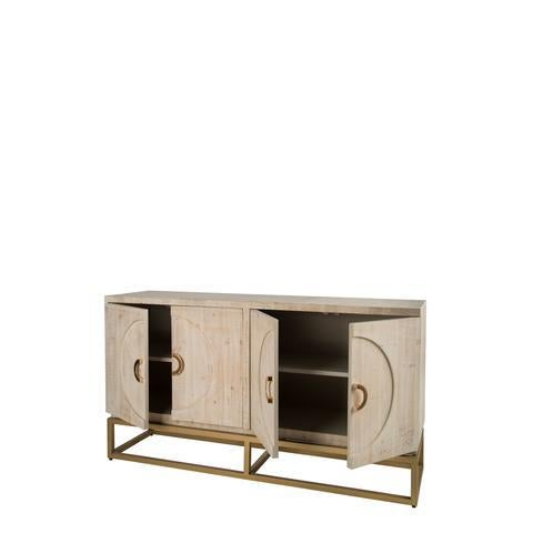 Toretto Sideboard With Gold Legs - Image 3 of 3