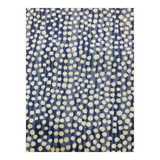 Alan Campbell Blue Quadrille Mojove Fabric - 2.75 Yards