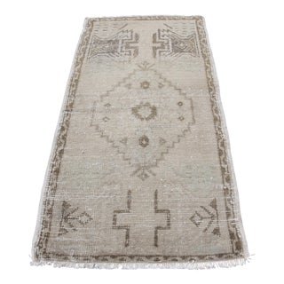 Turkish Muted Tone Oushak Rug - 1′10″ × 3′5″