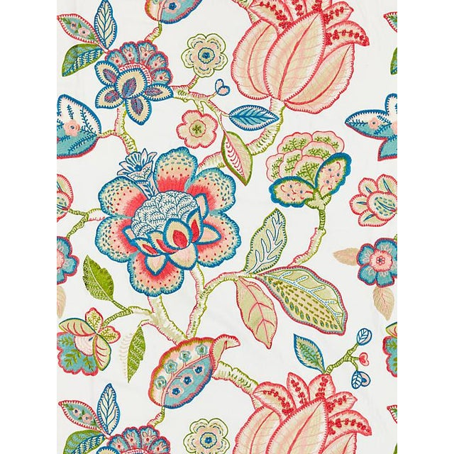 Transitional Scalamandre Coromandel Embroidery, Bloom Fabric For Sale - Image 3 of 3