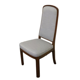Late 20th Century Vintage Ethan Allen Canova Collection Pad Back Side Chair For Sale