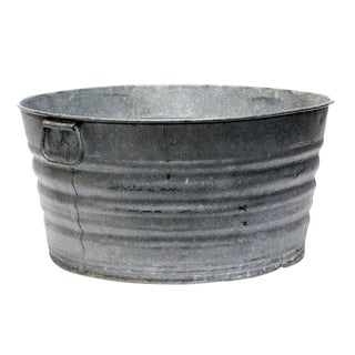 Vintage Galvanized Washtub For Sale