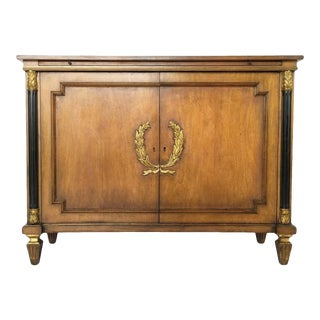 Neoclassical Style Italian Two-Door Sideboard For Sale