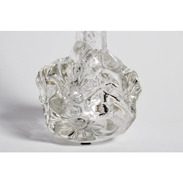 Blown Glass Hand-Blown Glass Imprints of Indian Print Block Vase For Sale - Image 7 of 13