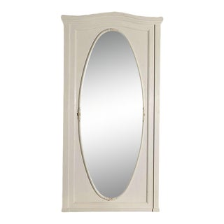 Large Oval Wall Mirror in Painted Frame For Sale