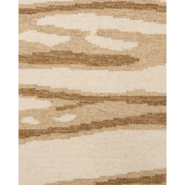 Contemporary Solo Rugs Grit and Ground Collection Contemporary Arbol Hand-Knotted Flatweave Area Rug, Brown, 6' X 9' For Sale - Image 3 of 5