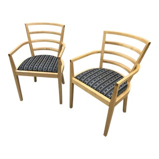 1991 Raul De Armas For Knoll Arm Chairs - A Pair For Sale