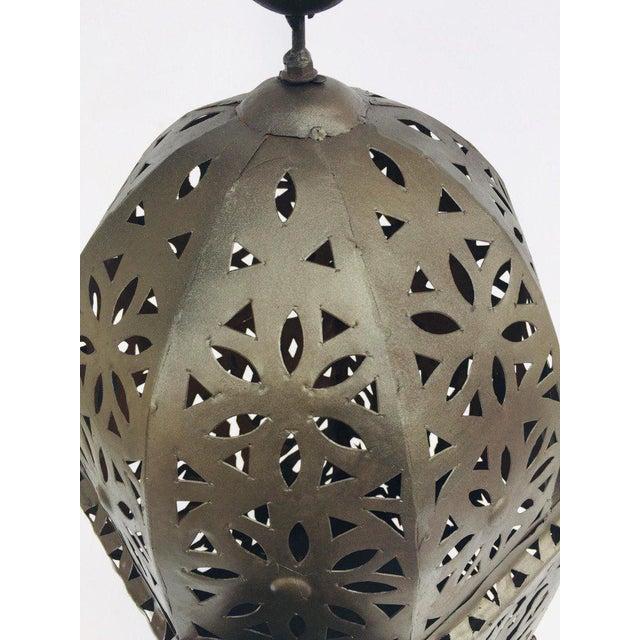 Metal Large Moroccan Hurricane Metal Candle Lantern For Sale - Image 7 of 13