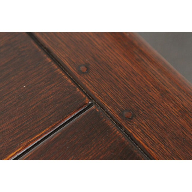 1900s Gothic Oak Console Table For Sale - Image 9 of 13