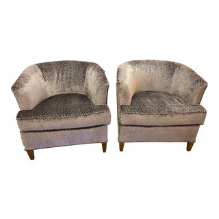 Pair of Newly Upholstered Club Chairs For Sale