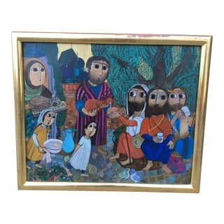 Wide Eyed Middle Eastern Travelers Oil Painting