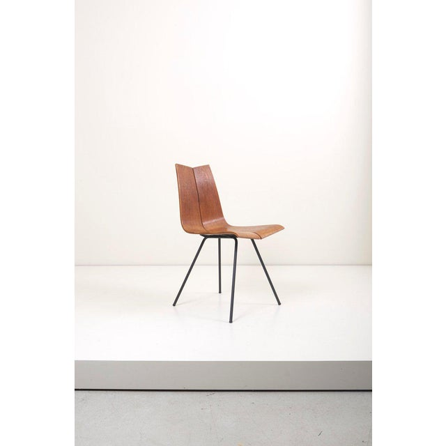 """Set of Eight """"Ga"""" Chairs by Hans Bellmann for Horgen-Glarus, Switzerland, 1950s For Sale - Image 6 of 9"""