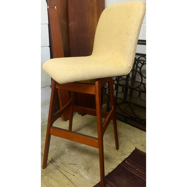 Danish Mid-Century Swivel Bar Stool - Image 3 of 5