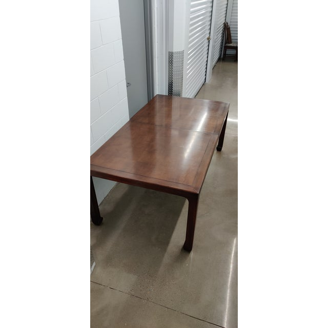 Wood Henredon Asian MidcenturyStyle Dining Table For Sale - Image 7 of 12