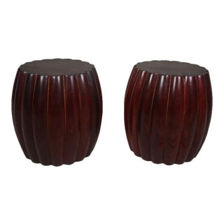 1970s Scallop-Edge Rosewood Side Tables - a Pair For Sale