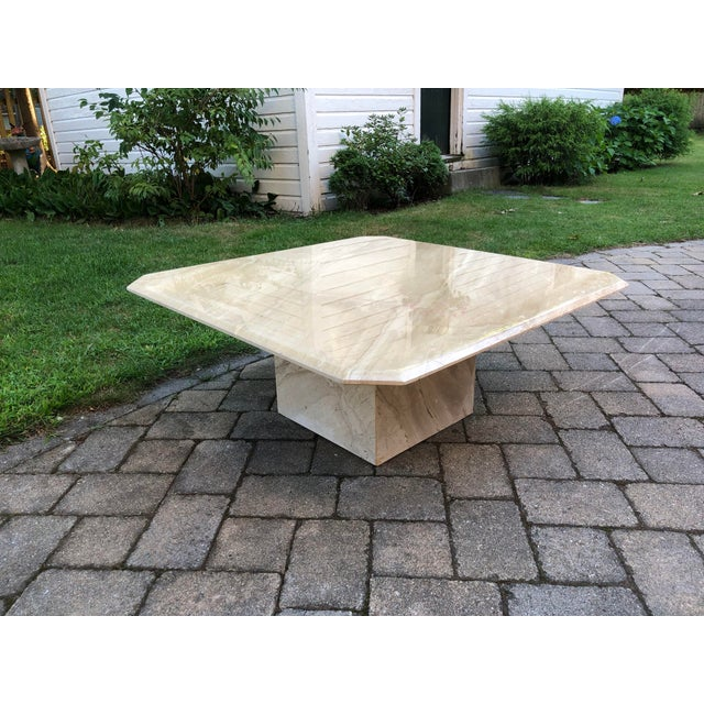 2000 - 2009 Art Deco Italian Travertine Coffee Table For Sale - Image 5 of 13