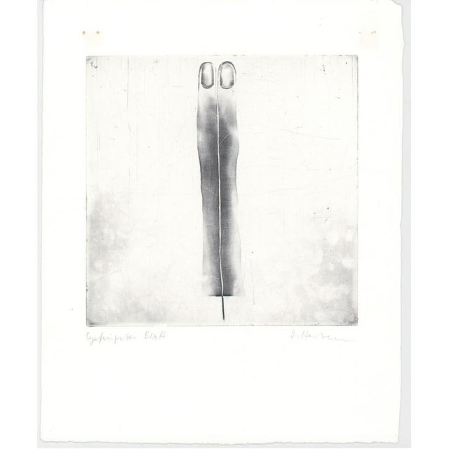 1970s Abstract Black and White Etching For Sale - Image 4 of 5