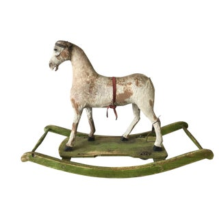 19th Century European Wooden Rocking Horse For Sale