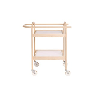 U3 Bar Cart/ Serving Trolly in Ash, Flat White Tray For Sale