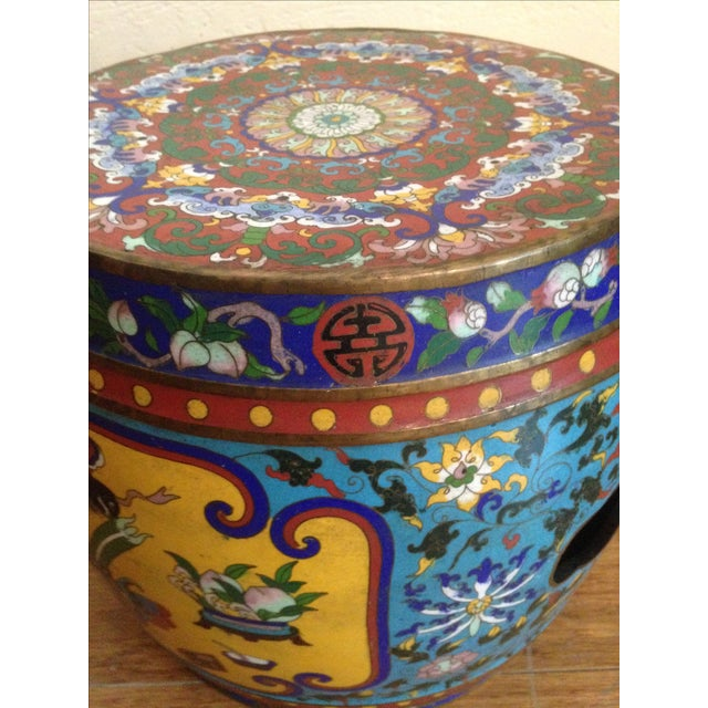 19th Century Chinese Cloisonne Garden Stool - Image 4 of 7