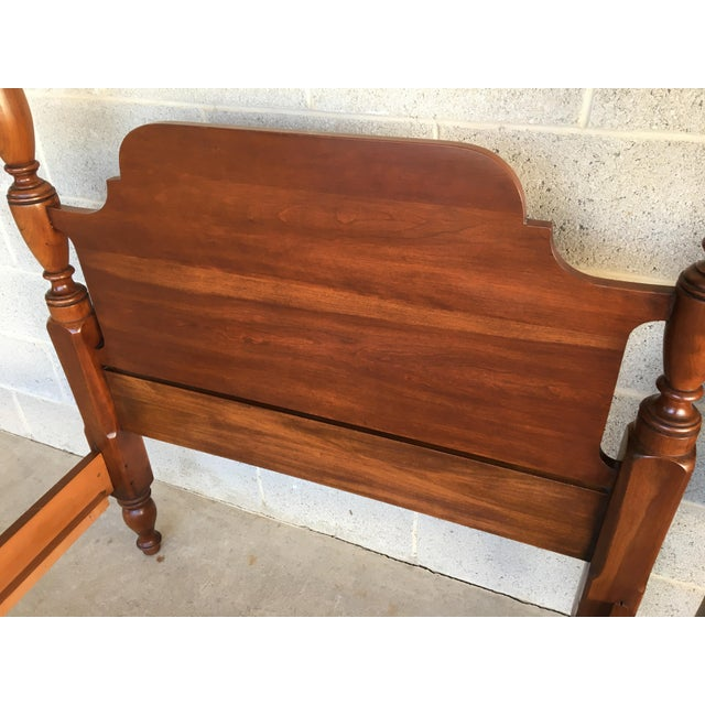 Chippendale Henkel Harris Solid Cherry Chippendale Style Poster Beds - a Pair For Sale - Image 3 of 9