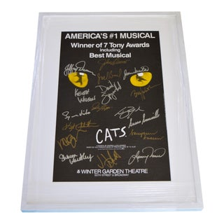 "1990s ""Cat's the Musical"" Original Framed Poster For Sale"