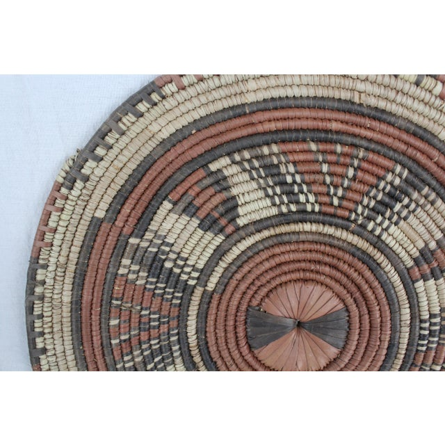 Mid 20th Century Tribal Style Brown Platter For Sale - Image 5 of 7