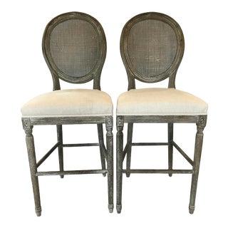 Furniture Classics Spenzia Oak Bar Stools - a Pair For Sale