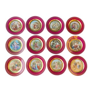 Set of Twelve Late 19th Century Royal Vienna Plates For Sale
