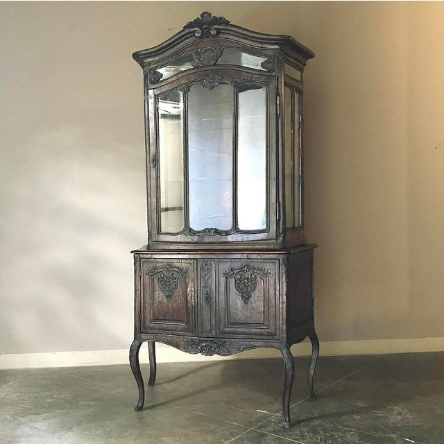 19th Century Country French Vitrine ~ Bookcase For Sale - Image 4 of 13